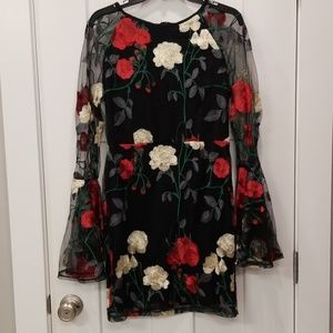 NWT Holiday Embroidered Dress